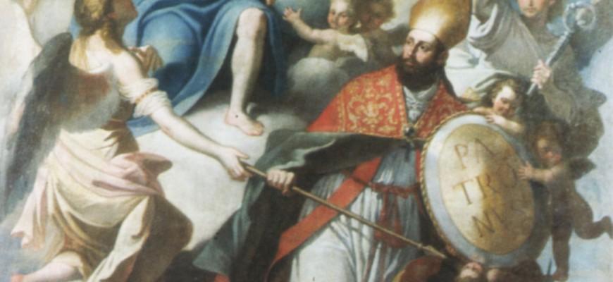 S. Oronzo riceve da Cristo il mandato di proteggere la Città di Lecce dalla peste